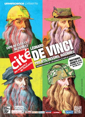 Leonardo da Vinci exhibition poster