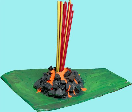how to create a volcano