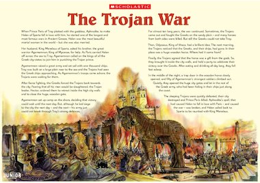 The Trojan War – story poster – Primary KS2 teaching ...