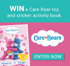 WIN a Care Bear toy and sticker activity book