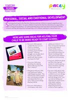 Starting school ? personal, social and emotional development