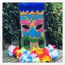 make a Hawaiian Tiki mask