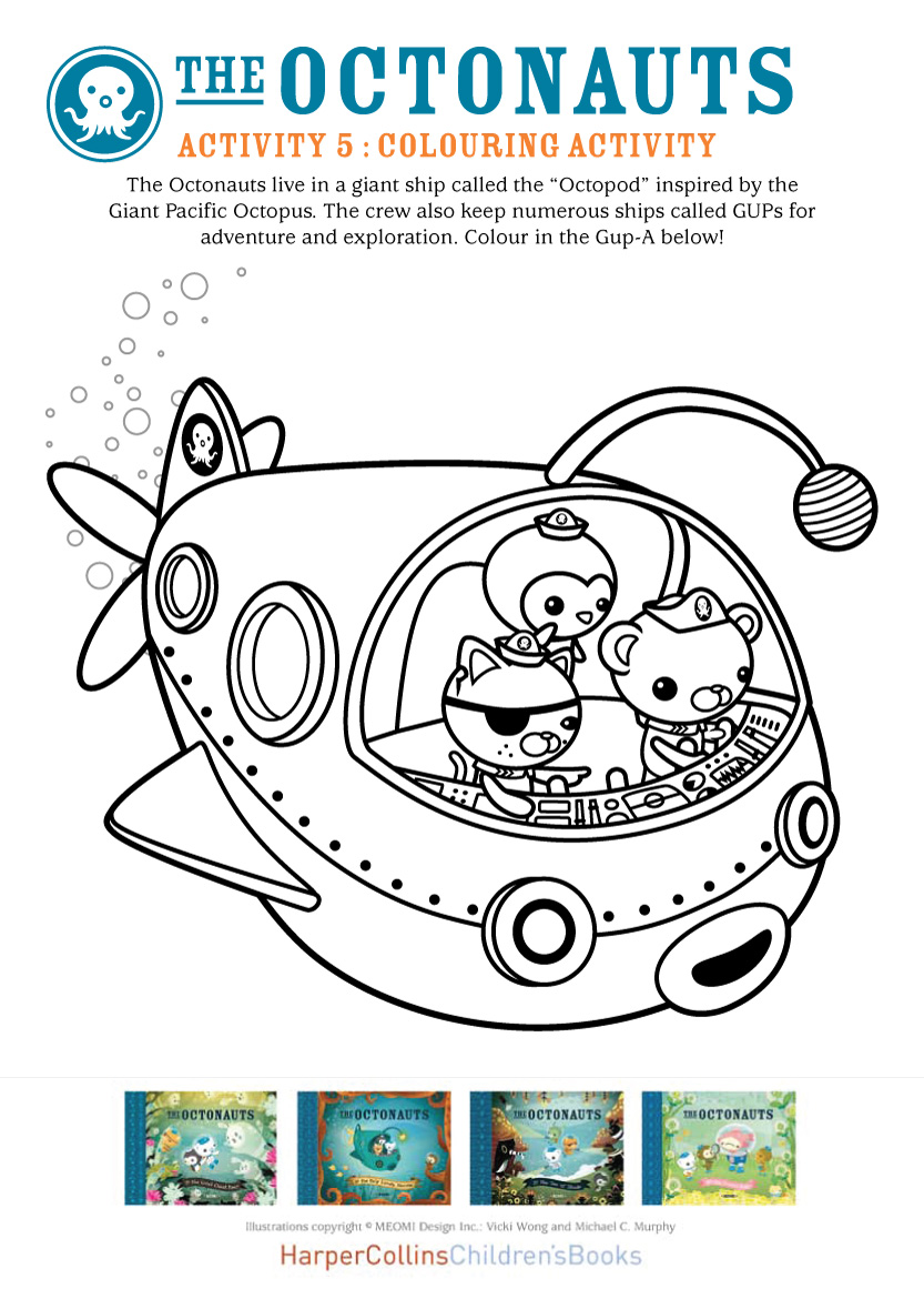 octonauts coloring pages dashi granules - photo#14