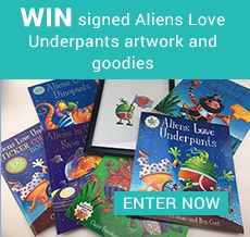 WIN signed Aliens Love Underpants artwork and goodies