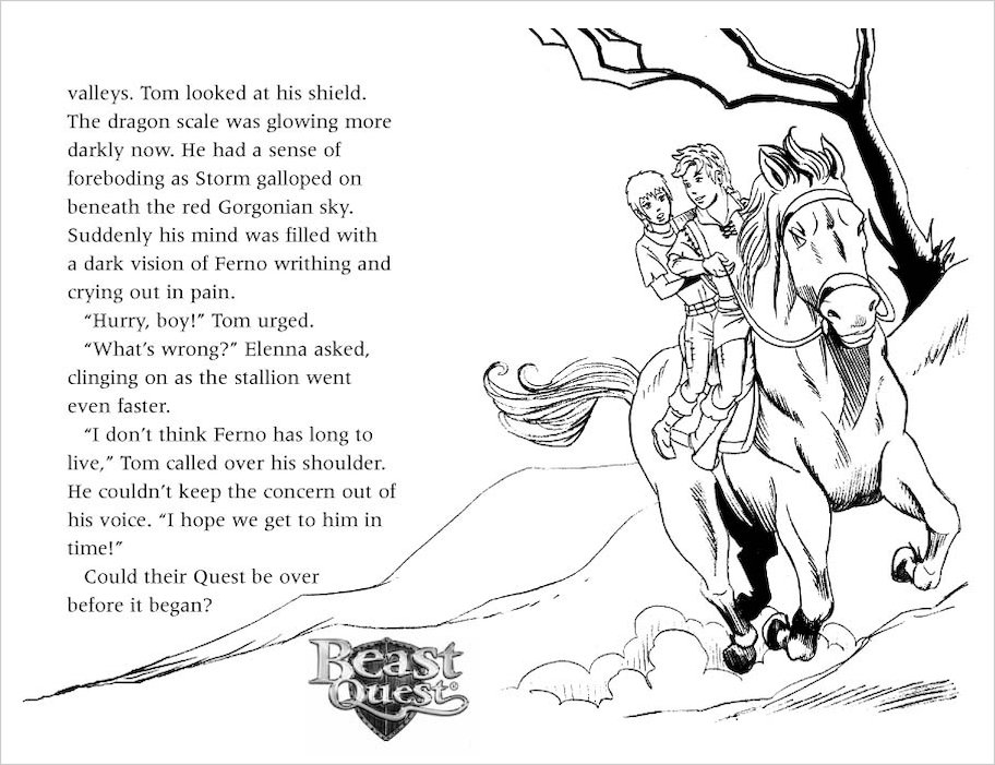 Colouring Pages Beast Quest : Beast quest series tusk the mighty mammoth