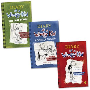 Follow Greg Heffley on his account of the perils of being a middle schooler in the Diary of a Wimpy Kid series. The book series is for sale here at up to 30% off.