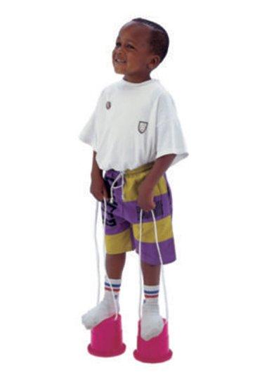 Child on stilts