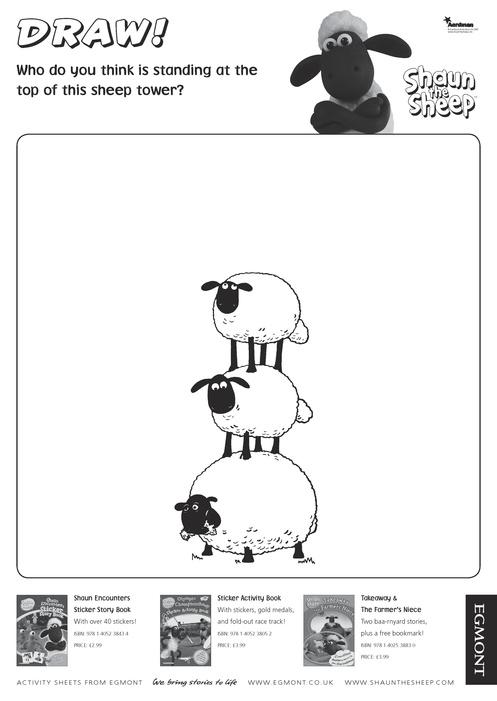 Shaun The Sheep Drawing Activity Scholastic Kids Club