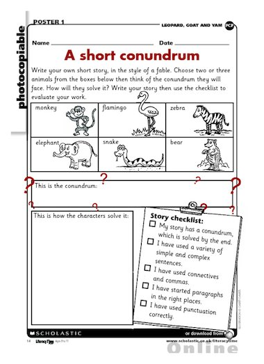 how to write a short story ks2