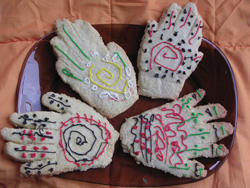 Edible mendhi hands