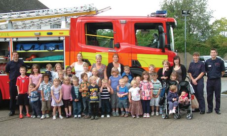 Children at the fire station