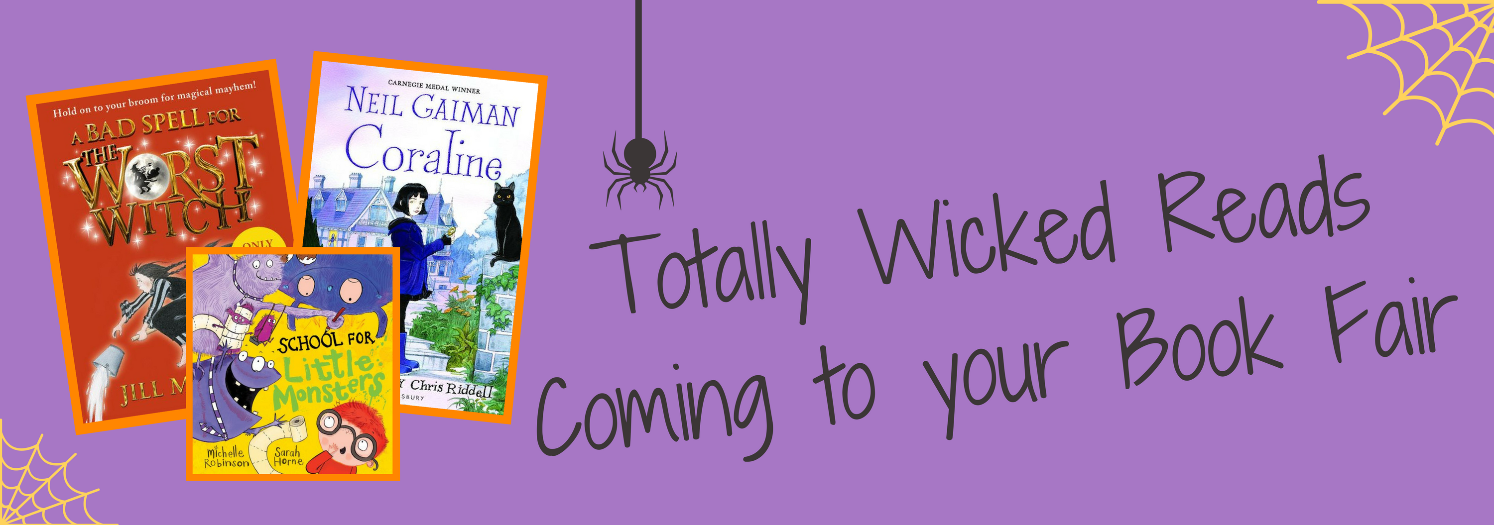 Totally wicked reads coming to your Book Fair