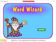 Word Wizard interactive game
