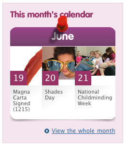 Calendar advert from the Education PLUS homepage