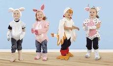 children in animal costumes