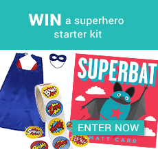 WIN a superhero starter kit