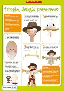Dingle, dangle scarecrow - activity sheet