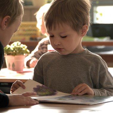 KS1 child reading