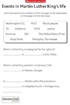 Events in Martin Luther King''s life