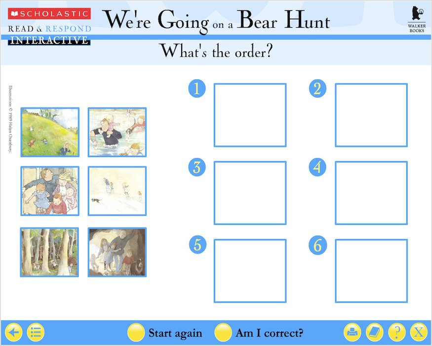 Read & Respond Interactive: We're Going on a Bear Hunt
