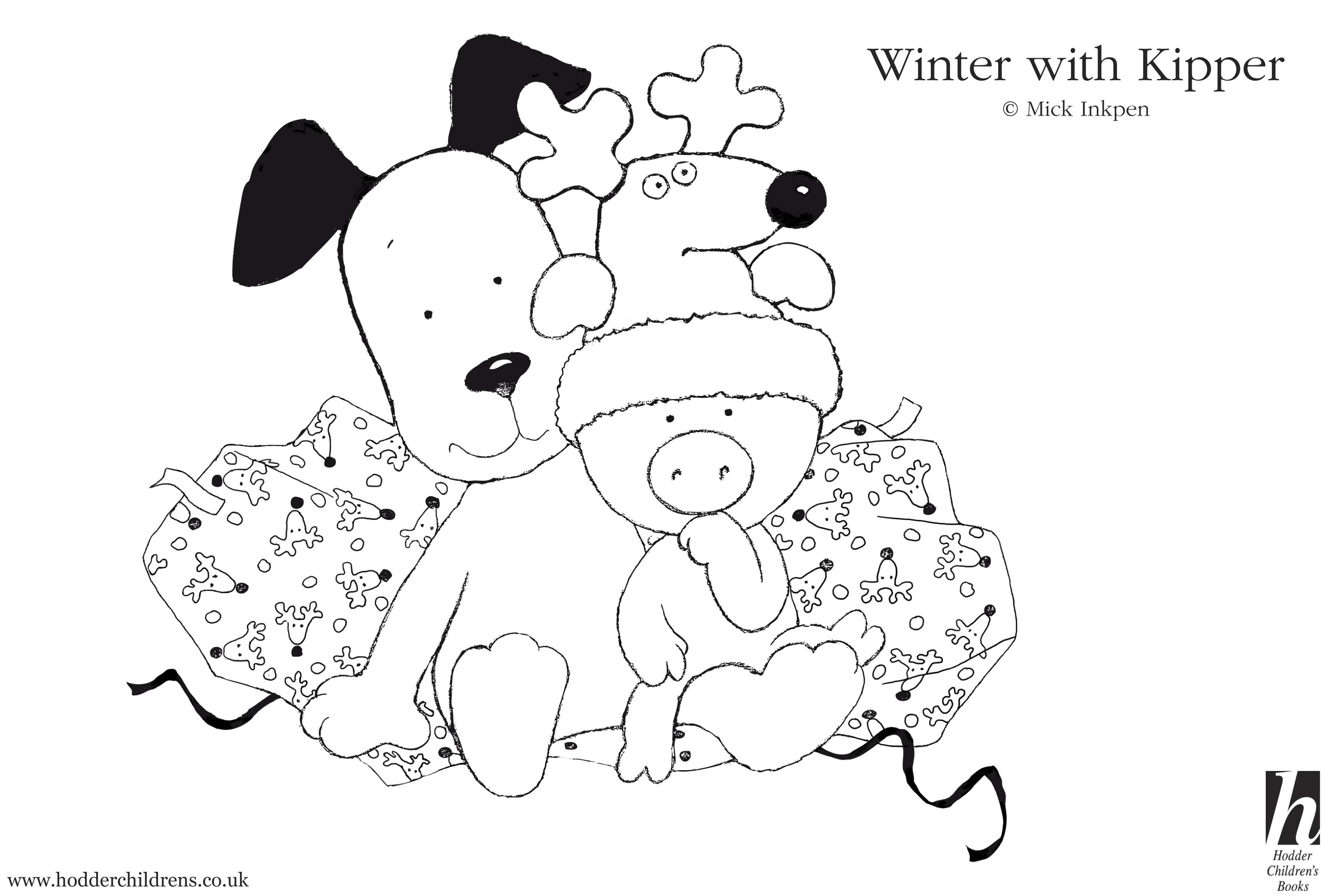 Kipper Winter Colouring - Scholastic Kids' Club