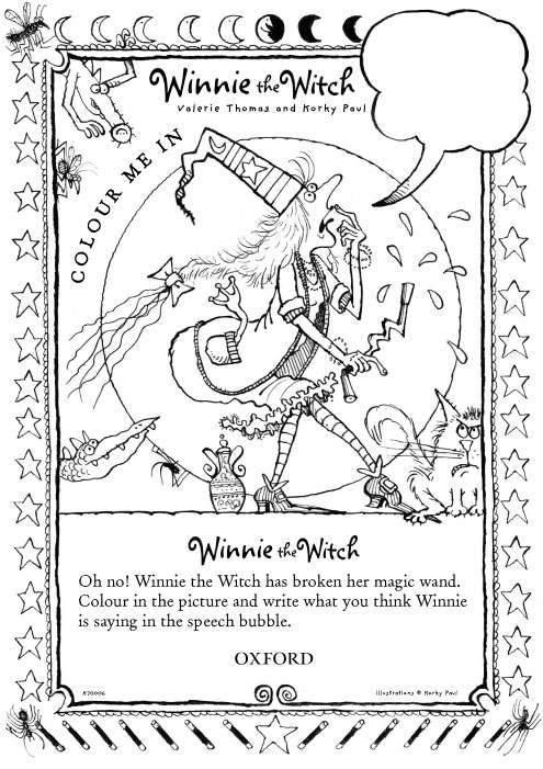 Winnie the Witch Colouring - Scholastic Kids' Club