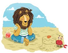 Message in a Bottle Lonely Lion