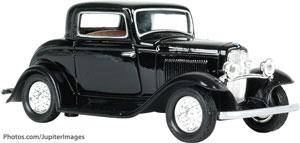 Old-fashioned car