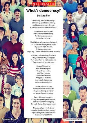 What's democracy poem