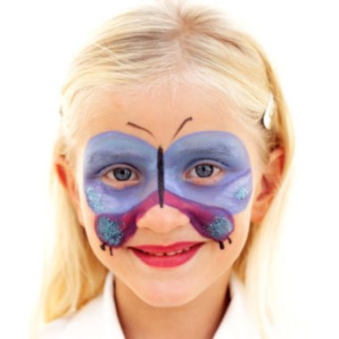 Girl face paint