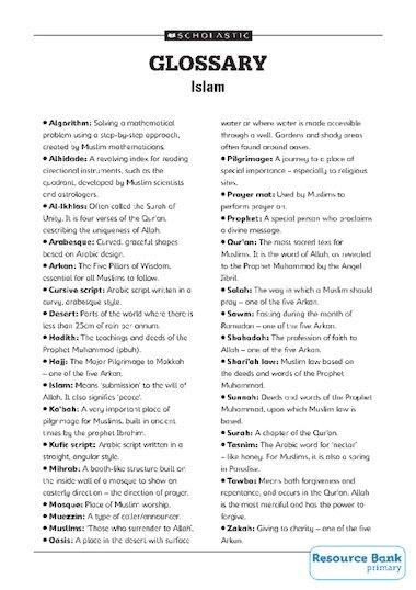 glossary of islamic terms pdf