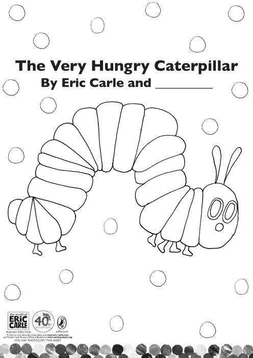 Colour The Very Hungry Caterpillar Scholastic Kids Club Hungry Caterpillar Butterfly Coloring Page