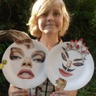 Funny paper plate faces