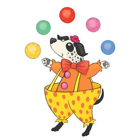 Juggling dog