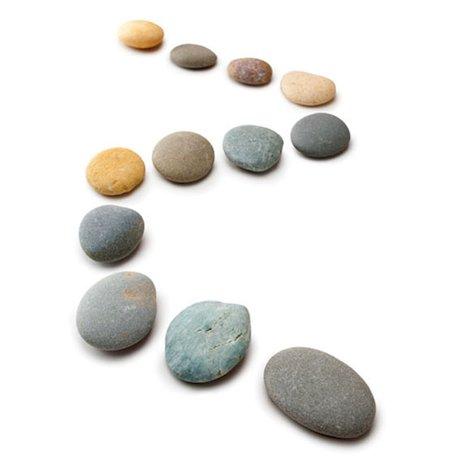 Line of pebbles