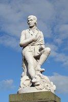 Statue of Robert Burns in Dumfries