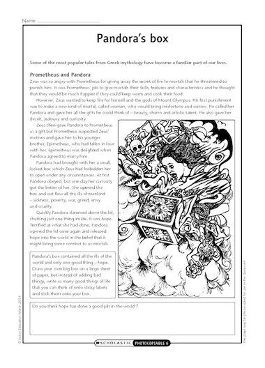 greek myth pandoras box pdf