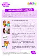 Starting school ? communication and language