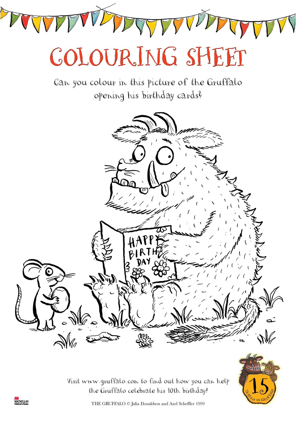 It is a picture of Gargantuan Gruffalo Coloring Pages