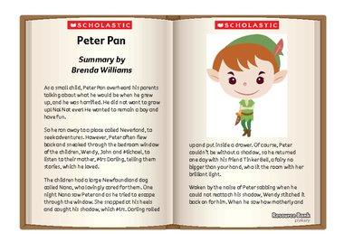 Peter Pan story sheet