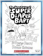 Super Diaper Baby Colouring