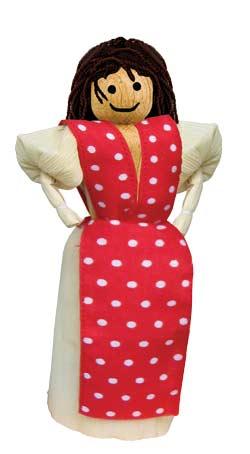 A peg doll
