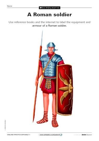 A Roman soldier u2013 label the picture u2013 Primary KS2 teaching ...