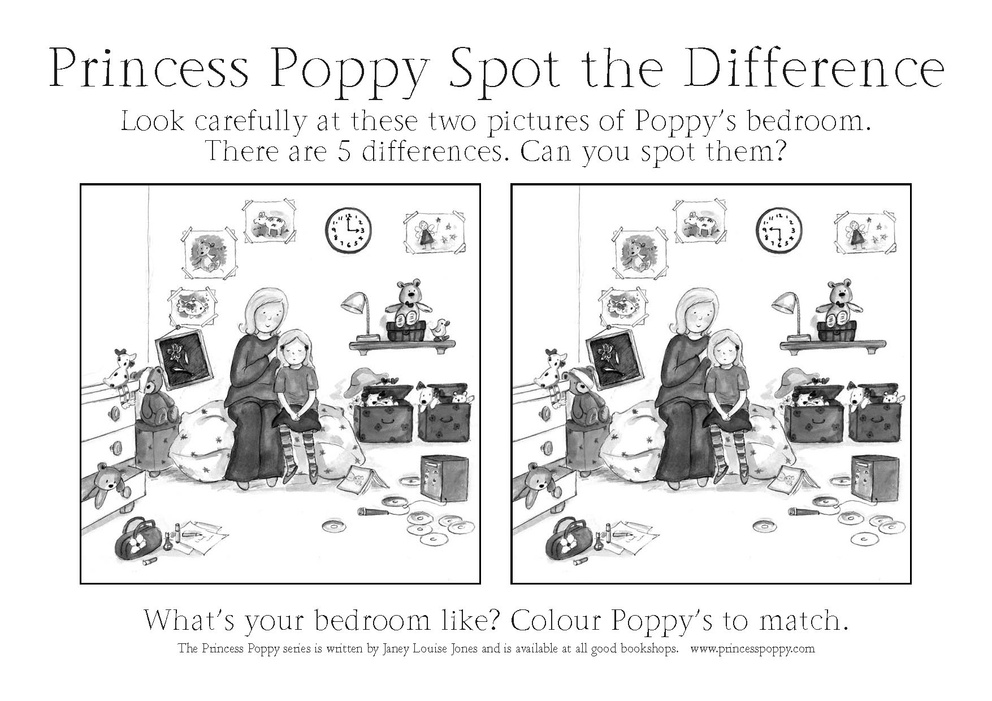 Princess Poppy Spot The Difference Scholastic Kids Club