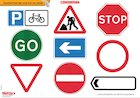 Road signs poster