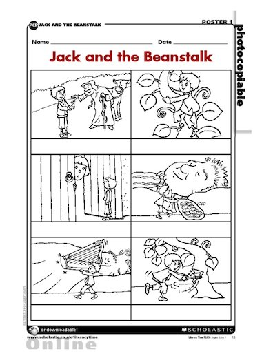 Gallery For gt Jack And The Beanstalk Story Sequencing