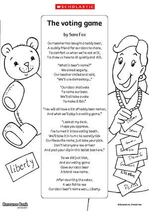 Voting game poem