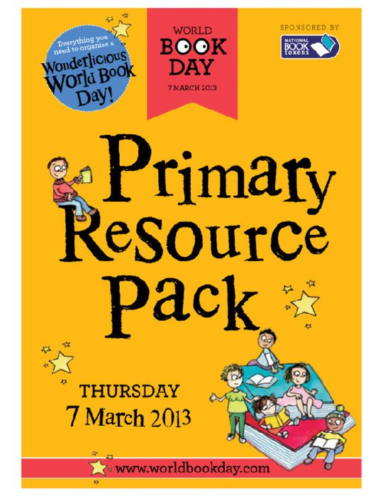 World Book Day 2013 - Primary Resource Pack