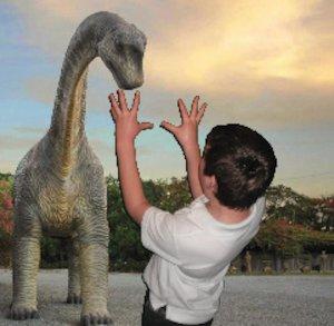 Greenscreen dinosaur