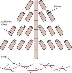 Letter Tree Illustration